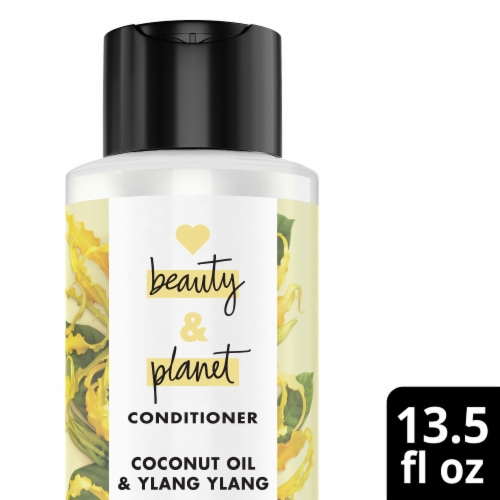 Love Beauty and Planet Silicone-Free Coconut Oil & Ylang Ylang Vegan Conditioner for Split Ends Perspective: top
