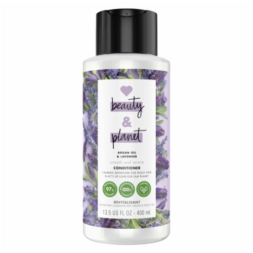 Love Beauty & Planet Smoothe & Serene Argan Oil & Lavender Conditioner Perspective: top