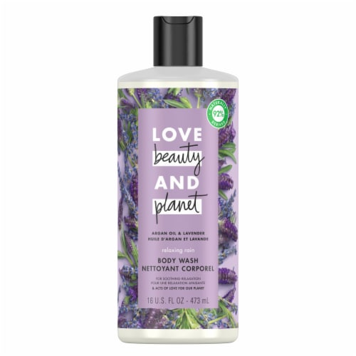 Love Beauty and Planet Argan Oil & Lavender Relaxing Rain Body Wash Perspective: top