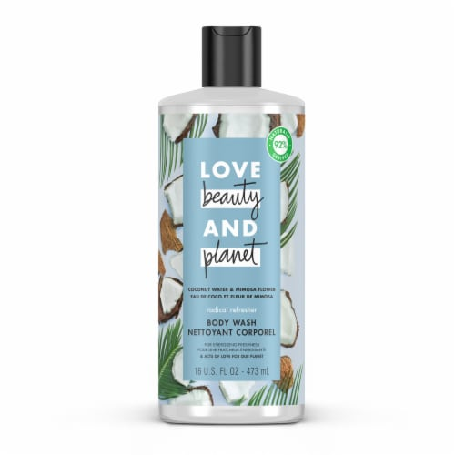Love Beauty & Planet Radical Refresher Coconut Water & Mimosa Flower Hydrating Body Wash Perspective: top