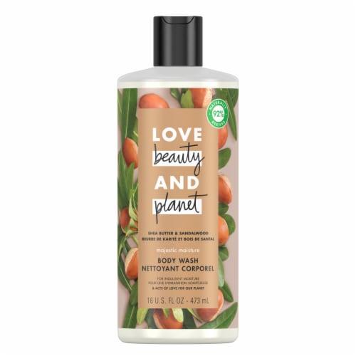 Love Beauty & Planet Vegan Shea Butter & Sandalwood Majestic Moisture Body Wash Perspective: top