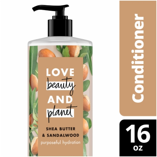 Love Beauty and Planet Shea Butter and Sandalwood Conditioner 16 oz Perspective: top