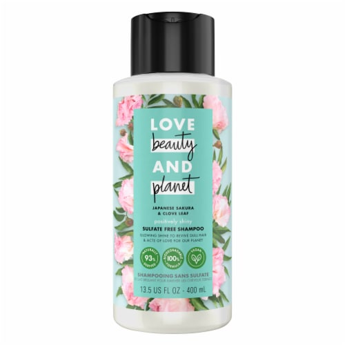 Love Beauty and Planet Sulfate-Free Positively Shiny Indian Lilac & Clove Leaf Shampoo Perspective: top