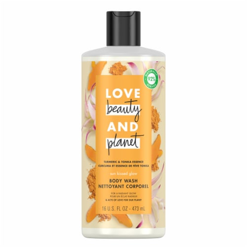 Love Beauty and Planet Turmeric & Tonka Essence Body Wash Perspective: top