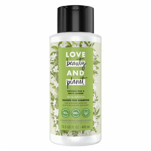 Love Beauty and Planet Sulfate-Free Coconut Milk & White Jasmine Shampoo for Curly Hair Perspective: top