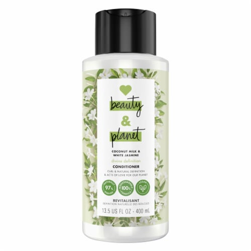 Love Beauty and Planet Divine Definition Coconut Milk & White Jasmine Conditioner Perspective: top