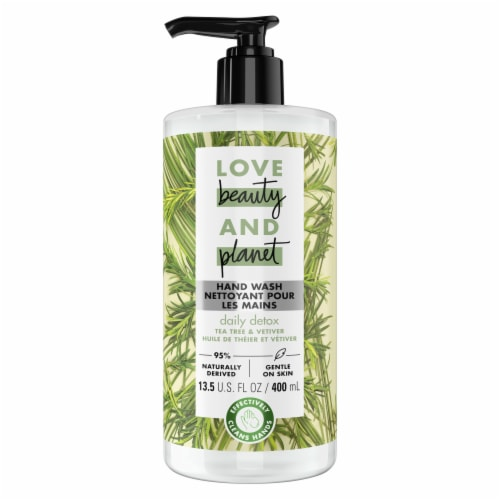 Love Beauty & Planet Daily Detox Tea Tree Oil & Vetiver Hand Soap Perspective: top