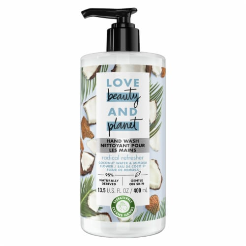 Love Beauty & Planet Radical Refresher Coconut Water & Mimosa Flower Hand Soap Perspective: top