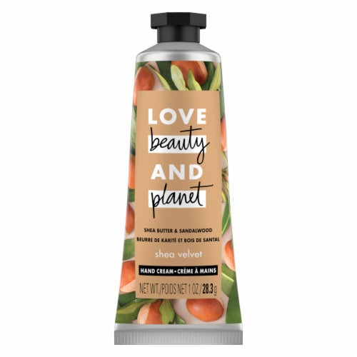 Love Beauty and Planet Hand Cream Shea & Sandalwood Perspective: top