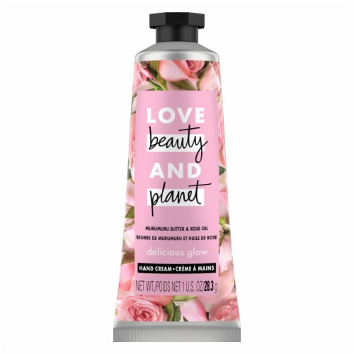 Love Beauty & Planet Delicious Glow Murumuru Butter & Rose Hand Cream Perspective: top