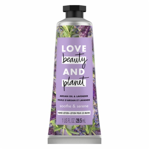 Love Beauty and Planet Smoothe & Serene Argan Oil & Lavender Hand Lotion Perspective: top