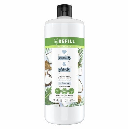Love Beauty & Planet Silicone-Free Coconut Water & Mimosa Flower Conditioner Perspective: top