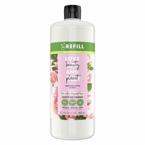 Love Beauty & Planet Sulfate-Free Murumuru Butter & Rose Shampoo Perspective: top