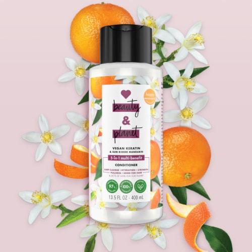Love Beauty and Planet Vegan Biotin & Sun-Kissed Mandarin Conditioner Perspective: top