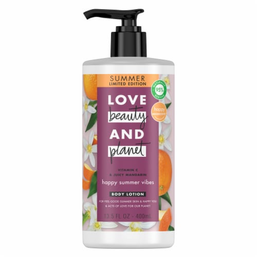 Love Beauty & Planet Paraben-Free Mandarin Body Lotion Perspective: top
