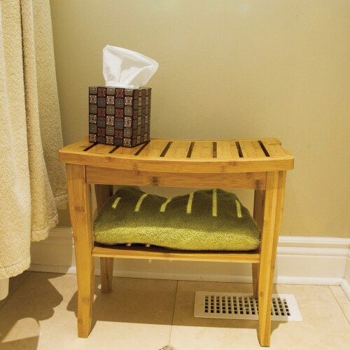 BIOS Living 60058 Bamboo Shower Bench Perspective: top