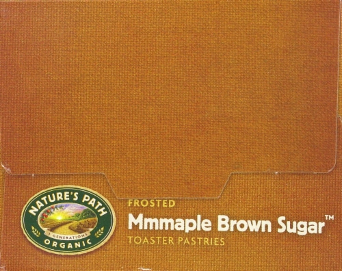 Nature's Path Organic Frosted Mmmaple Brown Sugar Toaster Pastries Perspective: top
