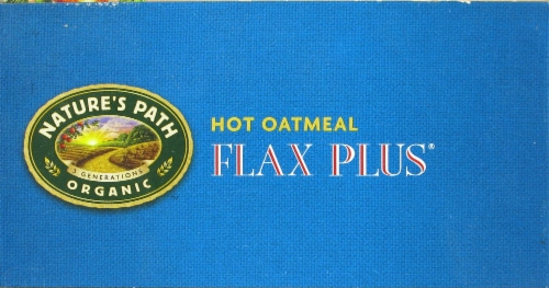 Nature's Path Organic Flax Plus Instant Oatmeal Packets Perspective: top