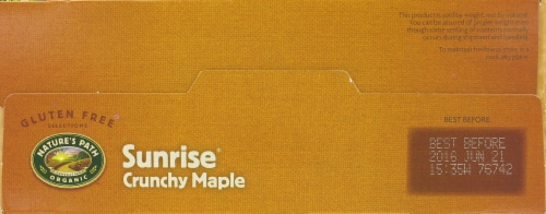 Nature's Path Organic Sunrise Crunchy Maple Cereal Perspective: top