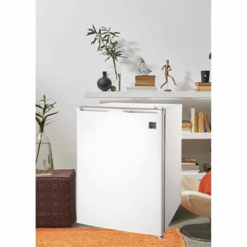 RCA 2.6 Cu. Ft. Top Freezer Mini Fridge Compact Home Refrigerator/Freezer, White Perspective: top