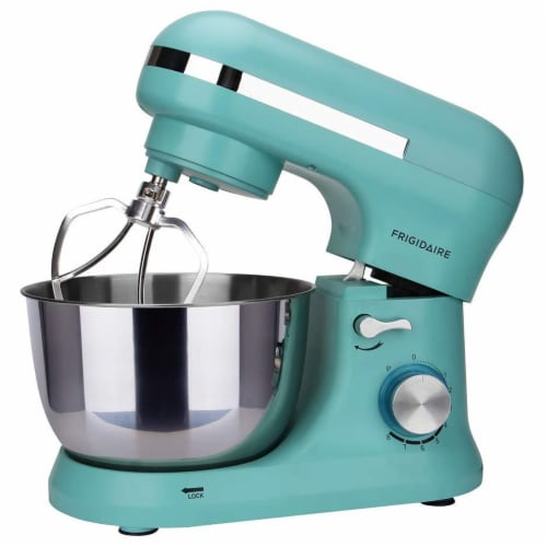 Frigidaire 4.5 Liter 8 Speed Electric Countertop Stand Mixer w/Accessories, Blue Perspective: top