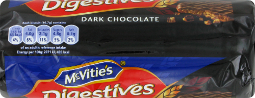 Mcvitie's Dark Chocolate Digestives Perspective: top