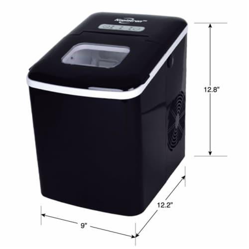 Koolatron Countertop Portable Auto Ice Maker Machine, 26 Pound Capacity, Black Perspective: top