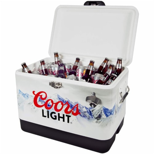 Koolatron 54 Quart Coors Light Portable Ice Chest Hard Cooler with Bottle Opener Perspective: top
