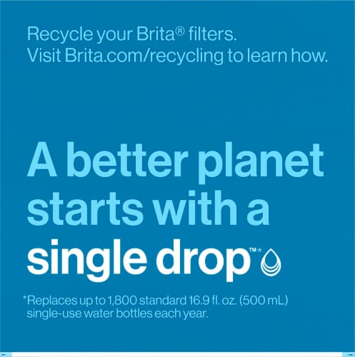 Brita Water Filter Pitcher Replacement Filters Perspective: top