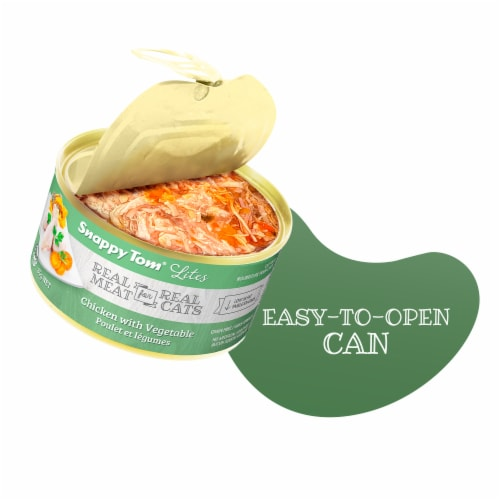 Snappy Tom Lites Chicken with Vegetable 3oz (24 Pack) Perspective: top