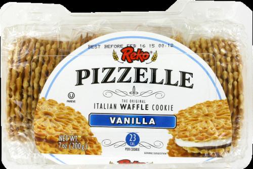 Reko Pizzelle Vanilla Italian Waffle Cookies Perspective: top