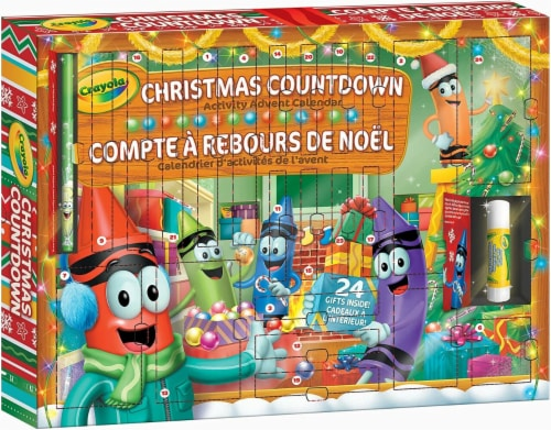 Crayola Christmas Countdown Activity Advent Calendar Perspective: top
