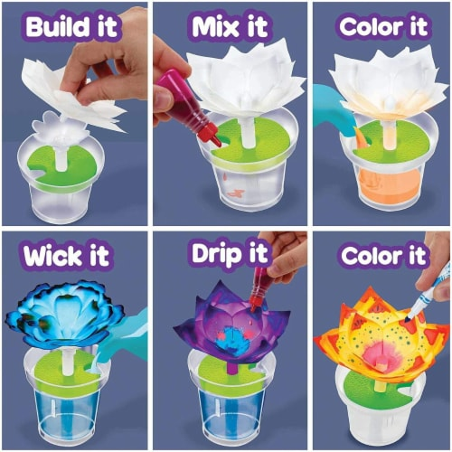 Crayola Paper Flower Science Kit Perspective: top