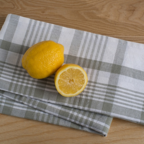 Now Designs Extra Large Wovern Cotton Kitchen Dish Towels London Gray Set of 3 Perspective: top
