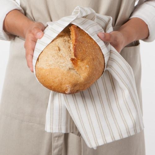Now Designs Tic Tac Toe Sandstone 100% Cotton Kitchen Dish Towels Perspective: top
