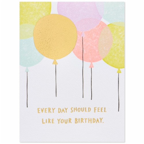 American Greetings Birthday Card (Balloons) Perspective: top