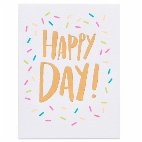 American Greetings Birthday Card (Happy Day) Perspective: top