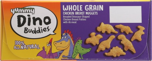 Yummy Whole Grain Chicken Breast Dinosaur-Shaped Nuggets Perspective: top