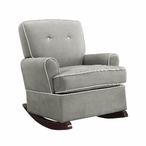 Baby Relax Tinsley Contemporary Upholstered Rocker in Gray Perspective: top