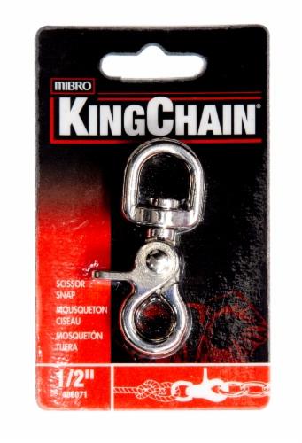 Mibro Kingchain Scissor Snap Round Swivel Nickel Plated Perspective: top