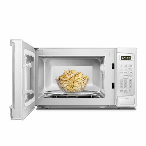 Danby 700W 0.7 Cubic Feet Convenient User-Friendly Countertop Microwave, White Perspective: top