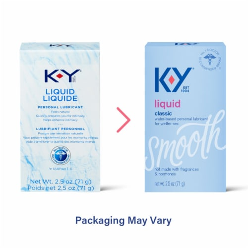 K-Y Smooth Classic Liquid Personal Lubricant Perspective: top