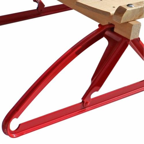Paricon 1042 Flexible Flyer Metal Runner Steel & Wood Snow Slider Sled, 42 inch Perspective: top