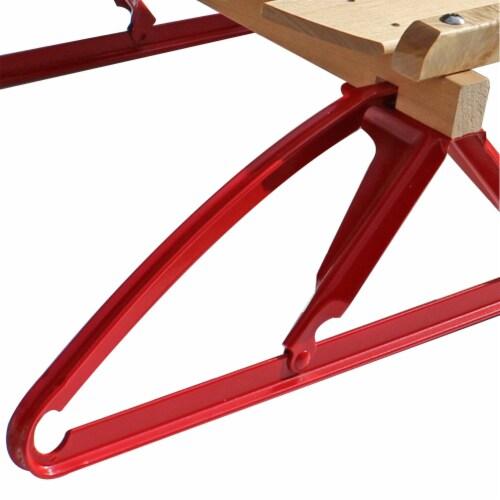 Paricon 1054 Flexible Flyer Metal Runner Steel & Wood Snow Slider Sled, 54 inch Perspective: top