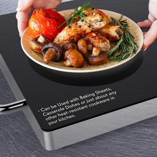"""NutriChef Portable 16.5 x 11"""" Electric Food Warmer Platter Tray Buffet Hot Plate Perspective: top"""