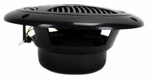 """2) NEW PYLE PLMR60B 6.5"""" 150W Marine/Boat Dual Cone Waterproof Speakers PAIR Perspective: top"""