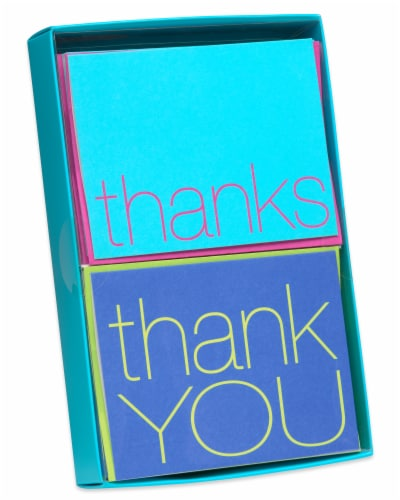 American Greetings Bold Multicolored Thank-You Cards with Envelopes Perspective: top