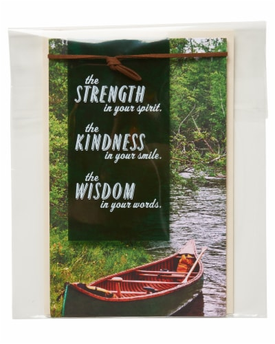 American Greetings Father's Day Card (Strength Kindness Wisdom) Perspective: top