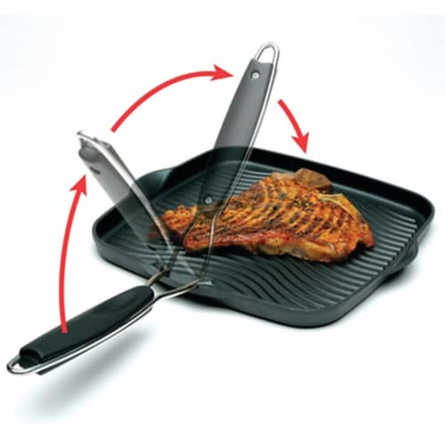 Starfrit 10 x 10 in. Grill Pan with Foldable Handle Perspective: top