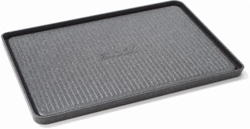 Starfrit The Rock Reversible Grill/Griddle - Silver Perspective: top